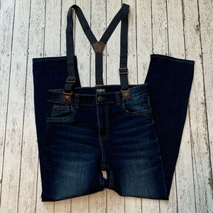 Girls Jeans with Suspenders sz 12